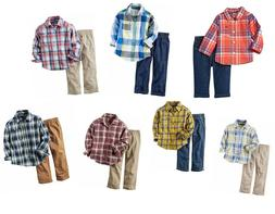 Carter's Baby Boy's 2-Piece Button Shirt and Pant Set - NEW/