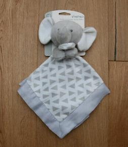 Carter's Baby Boy Security Blanket ~ Elephant ~ Gray & White