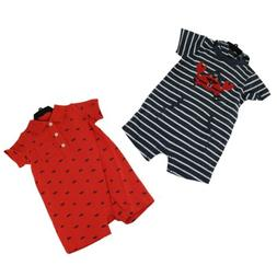 Carter's Baby Boy Short Sleeve Romper 2 Pack, size 18M, Crab