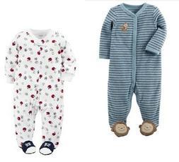 Carter's Baby Boy Snap-Up Terry Sleep & Play Pajama 2pk Monk