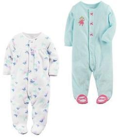 Carter's Baby Girl Snap-Up Terry Sleep & Play Pajama 2pk Mon
