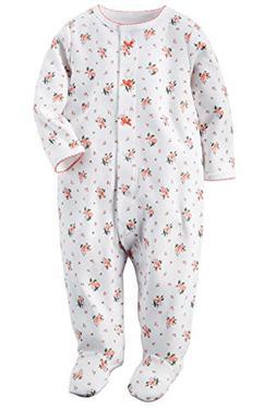 Carter's Baby Girls' 1 Pc Cotton Sleep & Play