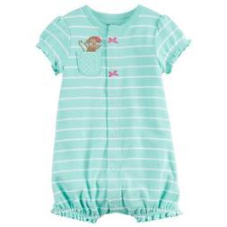 Carter's Baby Girls' Monkey Pocket Creeper 24 Months