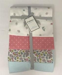 Carter's Baby Girls' Receiving Blankets 4 Pack, Unicorns & C