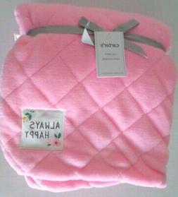 Carter's Baby Girls Soft Plush Diamond Design Blanket 2 Laye
