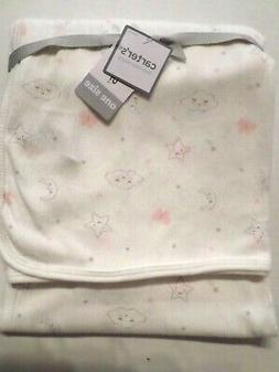 Carter's Baby Girls Stretchy Swaddle Blanket Clouds/Stars Iv