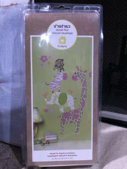 Carter's Baby Jungle Jill Collection Wall Decals Monkey Elep