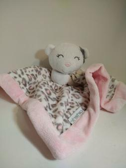 Carter's Baby Security Blanket with Kitten Pink Animal Print