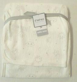 Carter's Baby Stretchy Swaddle Blanket Clouds/Stars Ivory/Lt