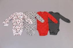 Carter's Boy's 4 Pack Long Sleeve Original Bodysuits SH3 Mul
