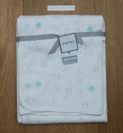 Carter's Boys Stretchy Swaddle Blanket Clouds/Stars Ivory/Lt