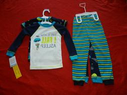 Carter's Boys' Toddler 4 Piece Monkey Print Pajama Set 2T Ne