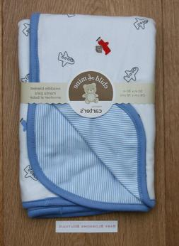 Carter's Child of Mine Baby Boy Swaddle Blanket ~ Blue & Whi