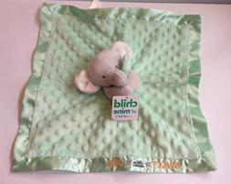 Carter's Child Of Mine Sweet Green Elephant Blankie Lovey Se