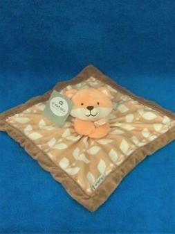 Carter's Fox Baby Security Blanket w/Tags Peach & Brown Velo