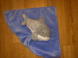 Carter's Grey Shark Blue Lovey Security Blanket Plush Blanki