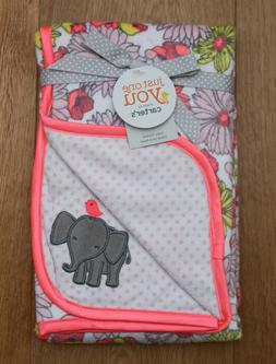 Carter's Just One You Baby Girl Blanket~ Elephant ~ Floral ~
