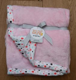 Carter's Just One You Baby Girl Reversible Fleece Blanket ~