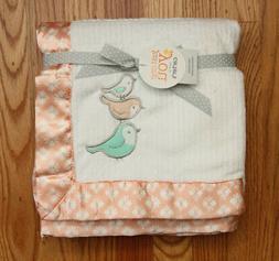 Carter's Just One You Baby Girl Blanket ~ Sateen Trim ~ Bird