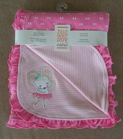 "Carter's Just One You Baby Girls Receiving Blanket 28"" x 32"""