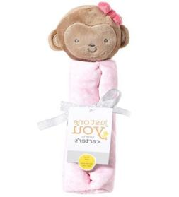 Carter's Just One You New Baby Girl Pink Monkey Rattle Secur