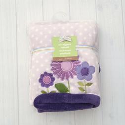 Carter's Lavendar Purple Floral Flower Polka Dot Baby Blanke