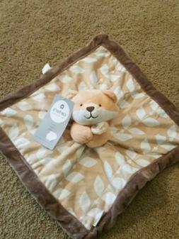 Carter's New Baby Fox Security Blanket Lovey Forest Woodland