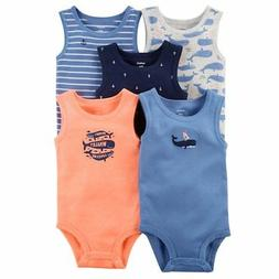 ad981f079a2f 🎁Carter s NWT Baby Boys  5 Pack Whale Tank Top Originals