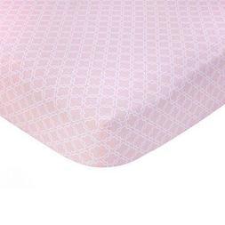 Carter's Pink Trellis Crib Sheet