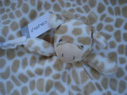 Carter's Plush Stuffed Giraffe Security Blanket Lovey Pacifi