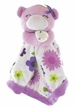 Carter's Super Soft Security Blanket, Cuddly Bear with flora