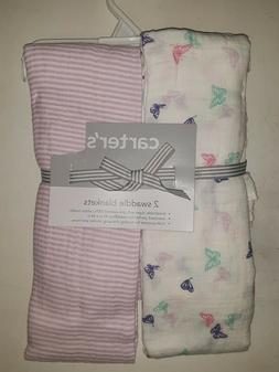 CARTER'S SWADDLE BLANKETS - 2 PACK