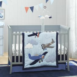 Carter's Take Flight Airplane 4 Piece Nursery Crib Bedding S