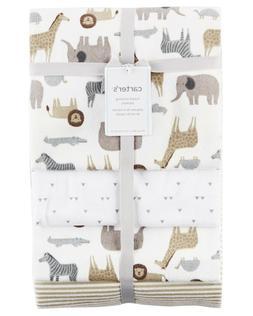 Carters Baby Boy 4-pk Flannel Receiving Blanket Set Safari A