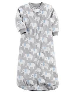 Carters Unisex Baby Fleece Sleepbag Sleepsuit, Elephant, Sma