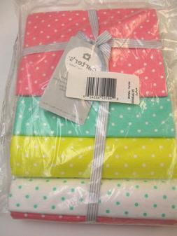 Carter's Baby Girls 4 Pack Flannel Receiving Blankets Polk