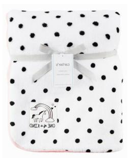 Carter's Baby Girls White Black Polka Dot Pink Unicorn Coz