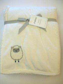 "Carters Cozy Unisex Baby White Blanket Lamb 40""x30"""
