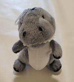 Carters Gray Dinosaur Lovey Baby Toy Plush Stuffed Animal Di