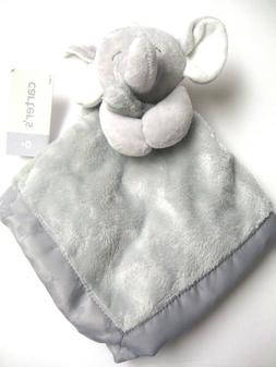 Carters Grey Gray Plush Elephant Baby Security Blanket Lovey