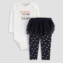 Carter's Just One You Girls 2 Pc Halloween 3M Pumpkin Spic