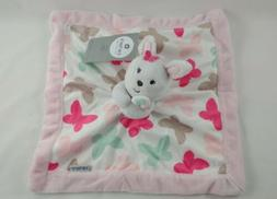 Carters Pink White Butterfly Bunny Security Blanket Velour B