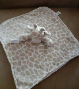 Carters Plush Giraffe Print Lovey Baby Security Blanket with