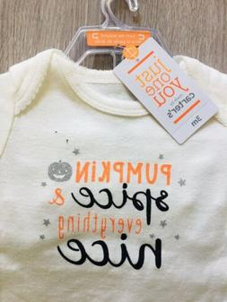Carter's Just One You Pumpkin & Spice 3 mo bodysuit & tutu