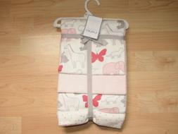 Carters 4-Pack Receiving Blanket Animals & Hearts Pink