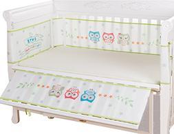 Anbaby Cartoon Baby Breathable Mesh Bumpers Crib Liner,2 Pie