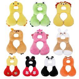 Cartoon Animal Baby Kids U-shaped Neck Head Pillow Car Trave