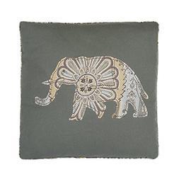 Casablanca Grey Elephant pillow