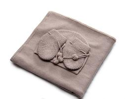 Cashmere and Baby Wool baby blanket set  FREE ship