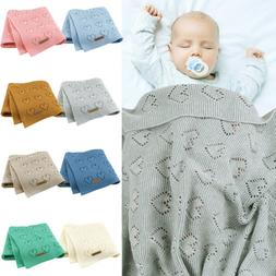 Cashmere Baby Blanket Cable Knitted Warm Soft Infant Swaddle